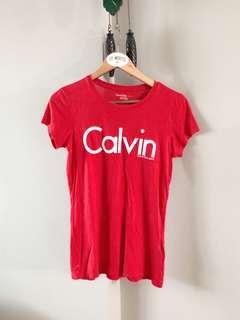 Calvin Klein Tee Shirt (Red)