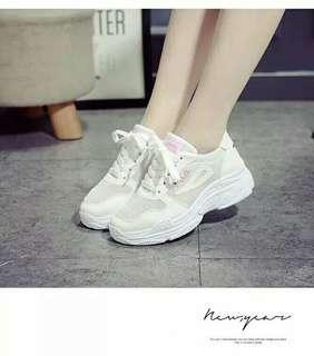 fila shoes // sneakers kets sport slipon wedges flatshoes sandal sepatu putih pink