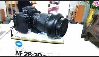 Sony A7R3 with minolta 2870G F2.8