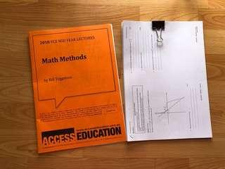 FREE VCE 3/4 METHODS NOTES AND PRAC EXAMS