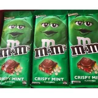 M&M's Crispy Mint Bar 160g