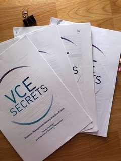 VCE 3/4 BUSMAN 'SECRET BOX' NOTES