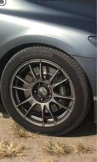 "17"" Oz Racing Ultraleggera Gunmetal Rims"