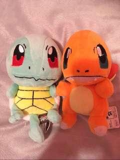 Pokemon Plushies (Squirtle and Charmander)