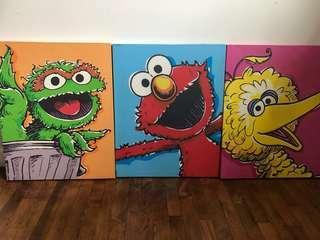 Sesame Street paintings
