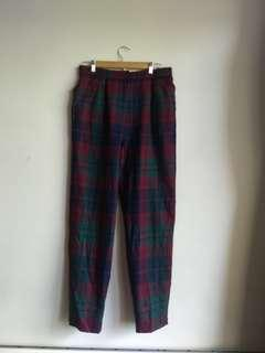 Wool Check Pants Perfect Condition 14-16