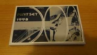 日本造幣局精鑄幣套裝 1998 Japan Mint Proof Set 1998