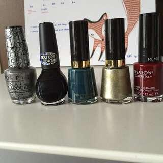 Assorted nail polish (more in the photos)