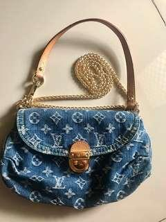 Preloved LV Authentic denim shoulder bag