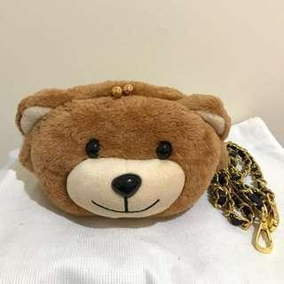 Moschino Brand New Cute Teddy Bear Cross Body Bag