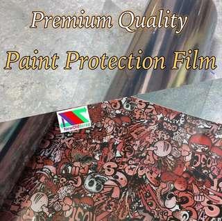 Premium clear protective vinyl sticker wrap