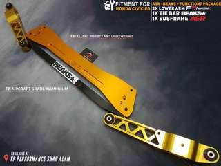 Subframe With Lower Arm and Tie Bar Set For Honda Civic EG