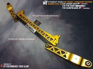 Subframe With Lower Arm Function 7 and Beaks Tie Bar Set For Honda Civic EG Gold