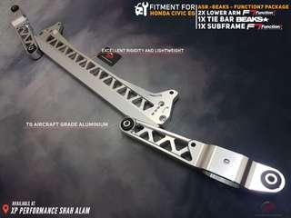 Subframe With Lower Arm and Tie Bar Set For Honda Civic EG Silver