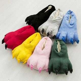 Cute dinosaur monster claw slip on shoes super fluffy