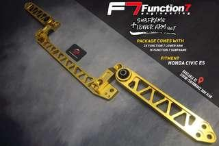Subframe With Lower arm Function 7 Package for Honda Civic ES Gold Set