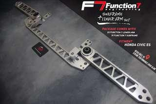 Subframe With Lower arm Function 7 Package for Honda Civic ES Silver