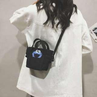 (2Col) Cookie Monster Mini Sling Bag