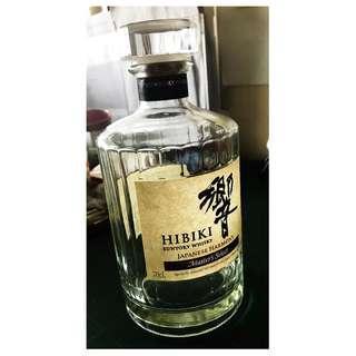 Empty Hibiki bottle