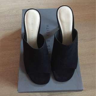 Charles and Keith black heels