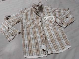 (Free Normal Mail)Used Twice Boys Fox Shirt 3-4yrs old
