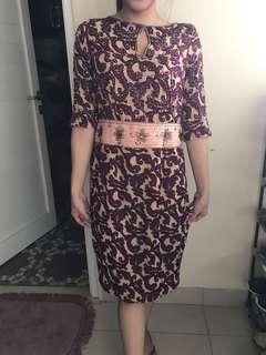 floral dress purple payet