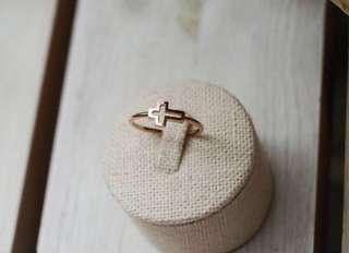 Less 1000‼️ On Hand 14k Gold Cross Ring for Teens