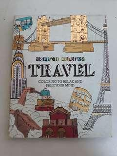 Travel Coloring Book (Urban Sketch Theme)
