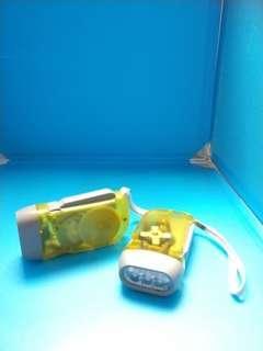 3LED手壓手電筒(買一送一)