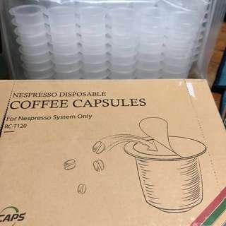 Nespresso disposable coffee capsules