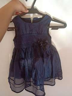 Navy blue dress for baby
