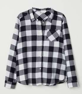 🚚 h&m checkered flannel