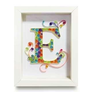 🚚 Customised Name Initial Quilling Art with Frame