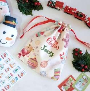 CUSTOM DRAWSTRING BAG christmas