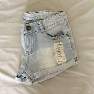 Jean shorts, size 6