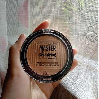 Maybelline Master Chrome by face studio metallic highlighter #100 MoltenGold