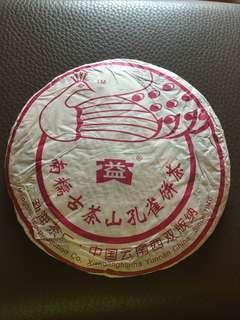 普洱(生茶)餅:2006 年 [大益]南糯古茶山孔雀餅茶;如相片所示