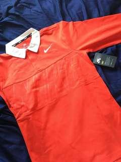 Red Nike polo shirt size s