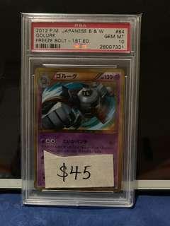 Shining Golurk PSA Pokemon Card