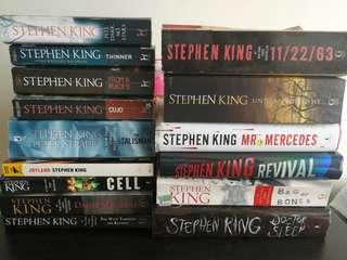 Stephen King (SELLING WHOLE LOT - 15 books)