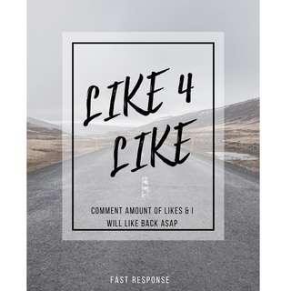 L4L L4L [ Likes for Likes ]  - FAST RESPONSE
