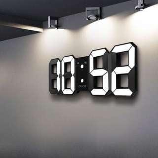 3D LED Digital display wall alarm