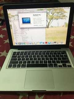 MacBook Pro 13,i5,4gb,500gb n mid 2012