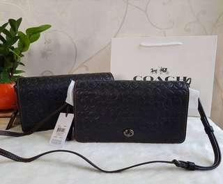 Coach Dinky Black in Signature Leather