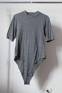 Preloved: Gray Bodysuit