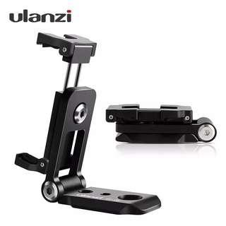 Ulanzi  Foldable Tripod Mount Adapter Phone Clipper Holder Vertical 360 Tripod Stand Quick Release Plate for Tripod Mic