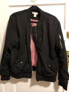 HM Padded Black Bomber Jacket