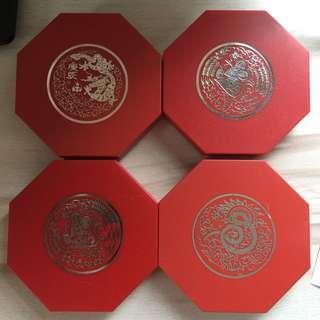 Singapore Lunar series proof-like $10 coins (4 pc)