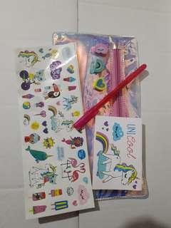 Unicorn sticker notepad