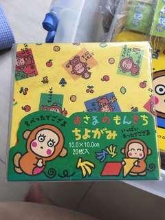 Sanrio OM 摺紙 monkichi
